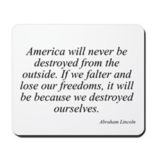 Abraham Lincoln quote 7 Mousepad