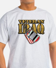 Iraq Veteran Dog Tags T-Shirt