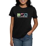 Peace, Love, Pomeranians Women's Dark T-Shirt