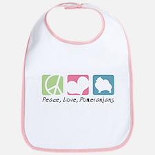 Peace, Love, Pomeranians Bib
