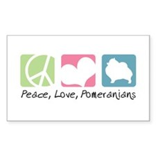 Peace, Love, Pomeranians Decal