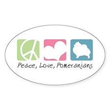 Peace, Love, Pomeranians Decal