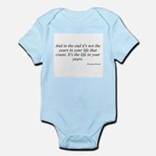 Abraham Lincoln quote 8 Infant Creeper