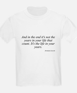 Abraham Lincoln quote 8 Kids T-Shirt