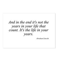 Abraham Lincoln quote 8 Postcards (Package of 8)