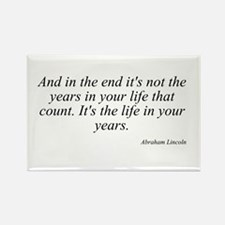 Abraham Lincoln quote 8 Rectangle Magnet