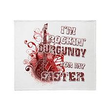 I'm Rockin' Burgundy for my S Throw Blanket