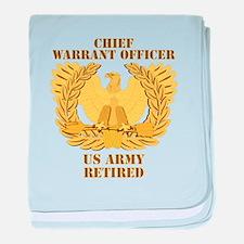 Army - Emblem - CWO Retired baby blanket