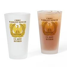 Army - Emblem - CWO Retired Drinking Glass