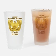 Army - Emblem - CWO Retired Drinking Glass