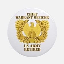 Army - Emblem - CWO Retired Ornament (Round)