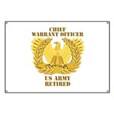 Army warrant officer Banners