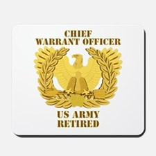 Army - Emblem - CWO Retired Mousepad