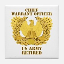 Army - Emblem - CWO Retired Tile Coaster