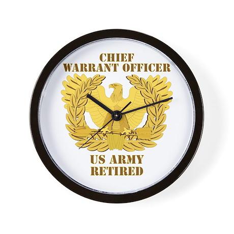 Army - Emblem - CWO Retired Wall Clock