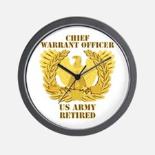 Army - Emblem - CWO Retired Wall Clock