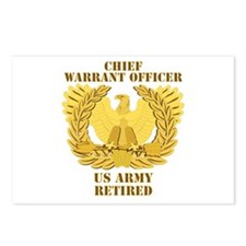 Army - Emblem - CWO Retired Postcards (Package of