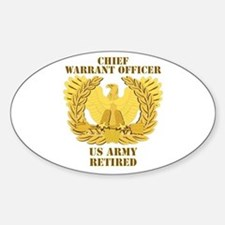 Army - Emblem - CWO Retired Decal