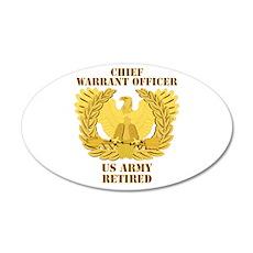 Army - Emblem - CWO Retired 38.5 x 24.5 Oval Wall