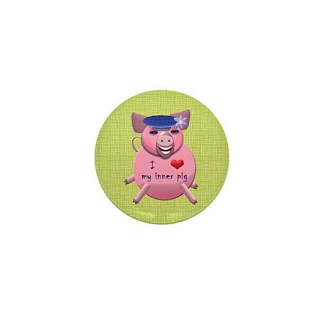 I love my inner pig Mini Button (10 pack)