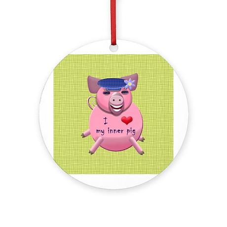 I love my inner pig Ornament (Round)