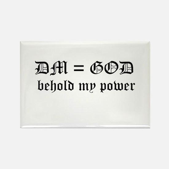 DM equals God Rectangle Magnet