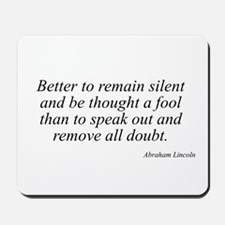 Abraham Lincoln quote 14 Mousepad