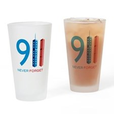 911 Never Forget Drinking Glass