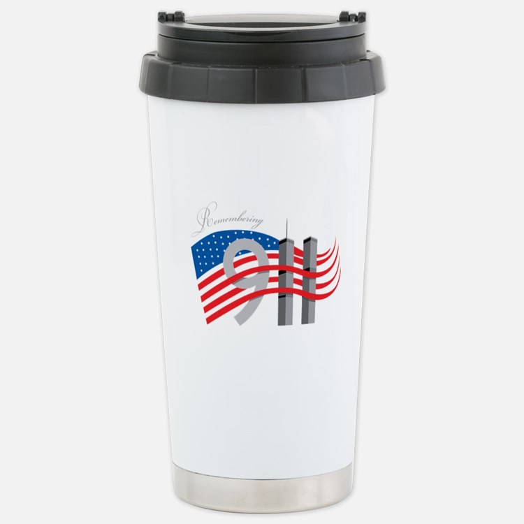 Remembering 911 Stainless Steel Travel Mug