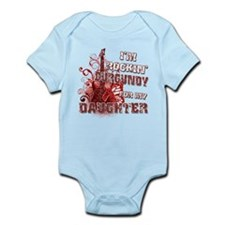 I'm Rockin' Burgundy for my D Infant Bodysuit