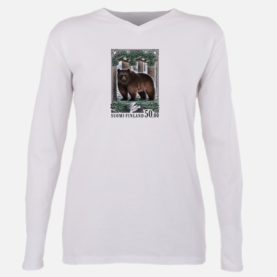1989 Finland Brown Bear Postage Stamp T-Shirt