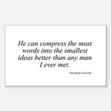 Abraham Lincoln quote 29 Rectangle Decal