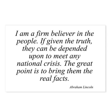Abraham Lincoln quote 34 Postcards (Package of 8)