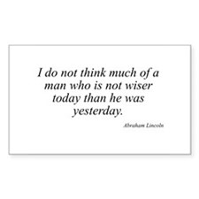 Abraham Lincoln quote 40 Rectangle Decal