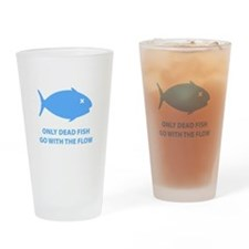 Go With The Flow Drinking Glass