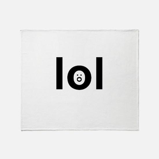 lol :o Throw Blanket