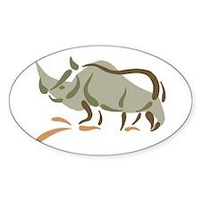 Rhino222 Oval Decal