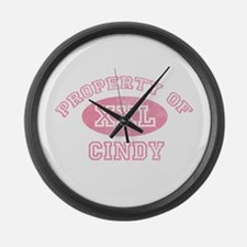 Property of Cindy Large Wall Clock