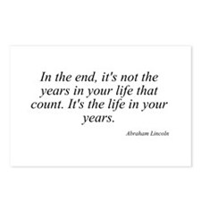 Abraham Lincoln quote 63 Postcards (Package of 8)