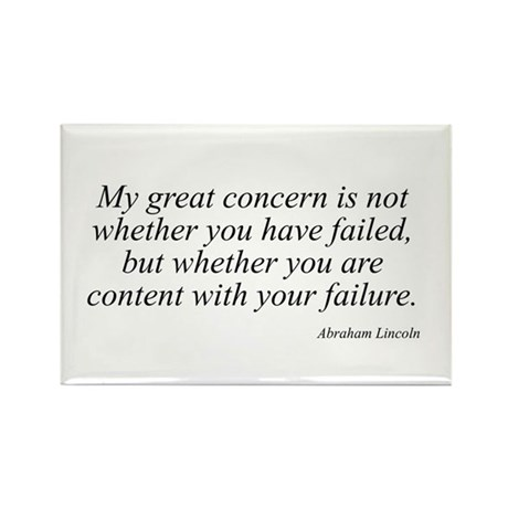 Abraham Lincoln quote 73 Rectangle Magnet