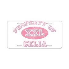 Property of Celia Aluminum License Plate