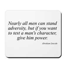 Abraham Lincoln quote 74 Mousepad