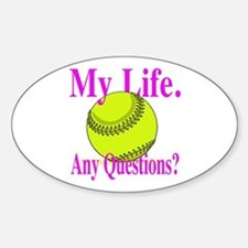 Girls Softball Sticker (Oval)