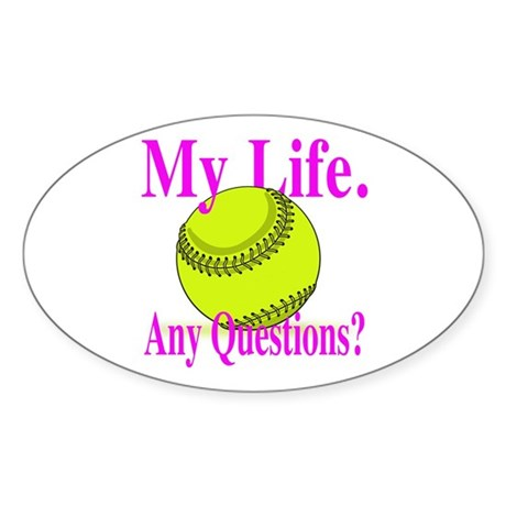 Girls Softball Sticker (Oval 10 pk)
