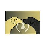 Black & Yellow Labrador Tying Knot Magnet (100)