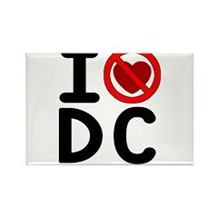 I hate DC Rectangle Magnet