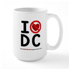 I hate DC Large Mug