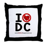 I hate DC Throw Pillow