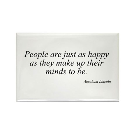 Abraham Lincoln quote 80 Rectangle Magnet