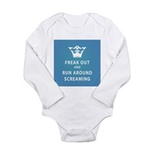 Cute Freak out and run around Long Sleeve Infant Bodysuit
